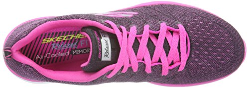 Skechers Valeris, Baskets Basses Femme Multicolore (BKHP)