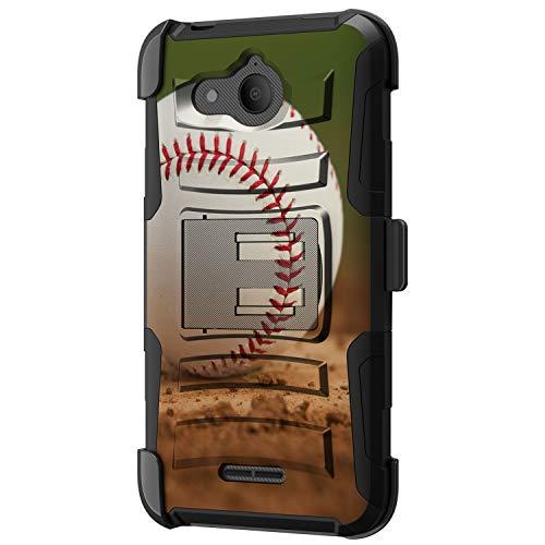 TurtleArmor Schutzhülle für Alcatel Tetra 5041C [Hyperschock] Hybrid-Schutzhülle mit Ständer und Gürtelclip für Sport und Spiele, Baseball Dirt (Phones Android Cricket Cell)