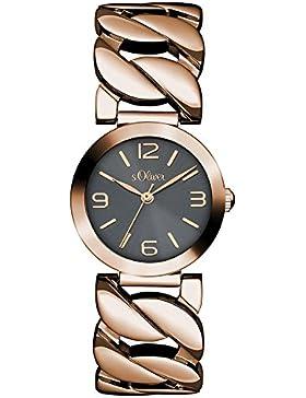 s.Oliver Damen-Armbanduhr Analog Quarz Edelstahl SO-3093-MQ