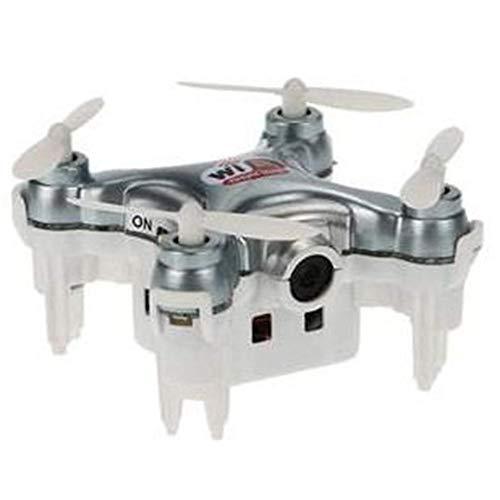 Cheerson Cx-10 Mini Drone radiocomandato quadricottero con Fotocamera Live Video 2,4 GHz 4 CH 6 Assi WiFi FPV, Fotocamera 0,3 MP RC Giocattolo Bambini Regali, Grau, Keine Fernbedienung