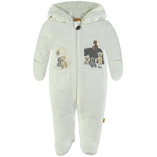Vario-fleece (Steiff Collection Unisex Strampler Overall 1/1 Arm Nicky Weiß (Cloud Dancer 1610), 74)