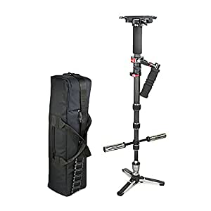 FLYCAM Mozy 5000 Carbon Fiber Handheld Monopod Stabilizer Supporting Cameras weighing upto 3kg/6.6lbs (FLCM-MZ-5)