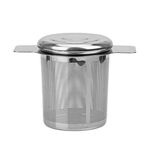Windy5 Doppelgriff Teesieb mit Deckel Edelstahl Fine Mesh Kaffee-Filter Teekanne Cup Hanging Loose Leaf Teesieb