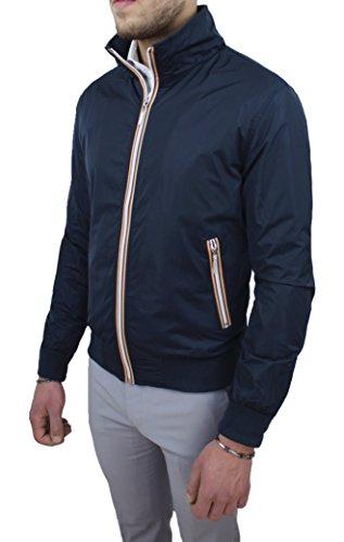 Ak collezioni giacca giubbotto uomo casual blu slim fit giubbino estivo da s a xxxl (xl, blu)
