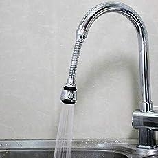 Three Secondz Kitchen Wash Basin 360° Flexible Faucet Hot Cold Taps Water Outlet (Multi Color)