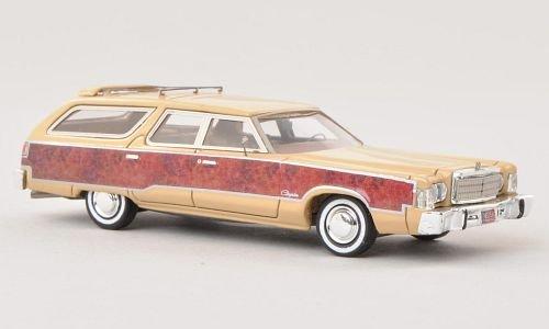 chrysler-town-country-beige-effet-bois-1976-voiture-miniature-miniature-deja-montee-neo-187