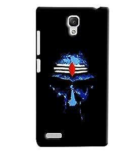 Blue Throat Om Namah Shivay Pattern Hard Plastic Printed Back Cover/Case For Xiaomi Redmi Note Prime