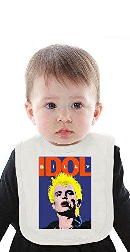Billy Idol Portrait Organic Baby Bib With Ties Medium