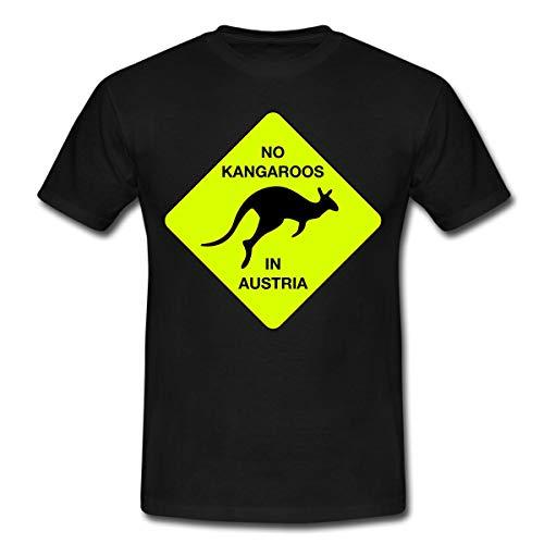 Spreadshirt No Kangaroos in Austria Kein Kängaru in Österreich Männer T-Shirt, XL, Schwarz