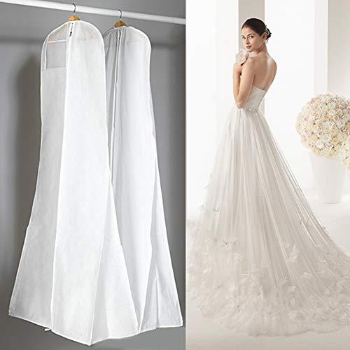ZAK168 Staubschutz für Hochzeitskleid, 180 cm, extra groß, atmungsaktiv, Vliesstoff, Hochzeit,...