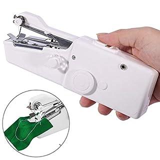Mini Nähmaschine, AOWEIKA Tragbare Handnähmaschine Schnellstichwerkzeug, AA Batteriebetrieben für Kleidung Stoff, Vorhang, Schal, DIY