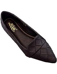 6c9438aea2e05a Huatime Ballerinas Schuhe Damen - Mokassins Müßiggänger Spitz Mode Pumps  Komfort Elegant Schuhe Klassische Lässige Flache…