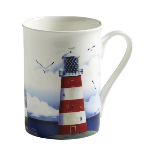 Maxwell & Williams S88005 Nautical Becher, Kaffeebecher, Tasse, Leuchtturm, in Geschenkbox,...