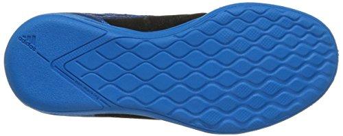 adidas , Herren Futsalschuhe Schwarz/Blau/Weiß