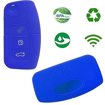 Nicky-Schutzhlle-fr-Ford-Focus-3-Tasten-Autoschlssel-Klappschlssel-Hlle-Auto-Schlssel-Silikon-Tasche
