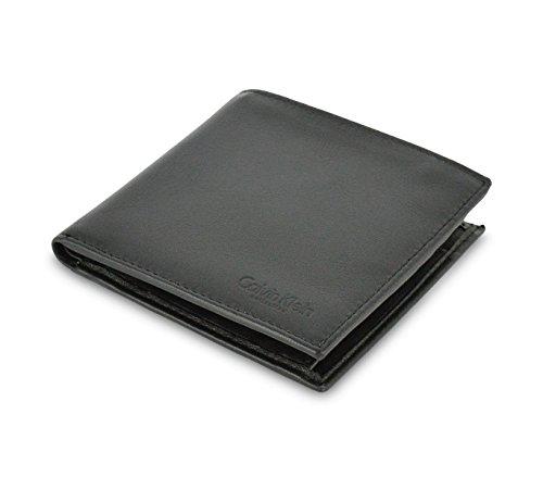selezione migliore 79040 898bd S09 Portafoglio nero CALVIN KLEIN da uomo in vera pelle nero ...