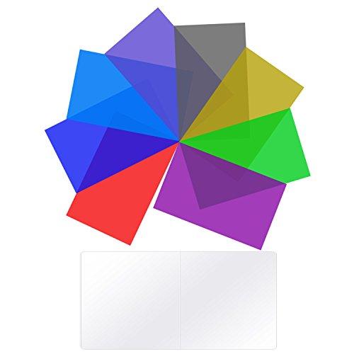 Neewer Beleuchtung Farbfilter Gel Transparent Farbkorrekturfilter für Videoleuchte (Für 660 LED)