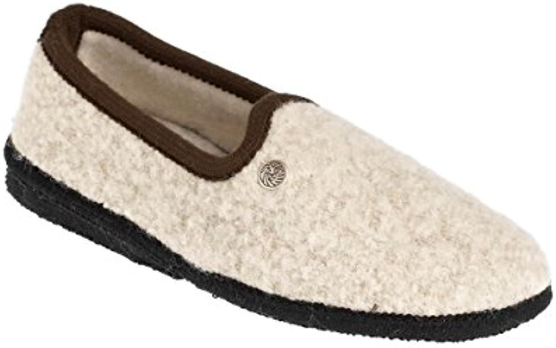 Löwenweiss Pantofola Pantofola Pantofola in Pura Lana Bouclé con Suola Lavorata a Mano in Feltro e Lattice Naturale. Tacchetto da... | In Breve Fornitura  bb6e46