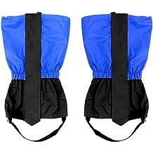 Lantelme 6063Polainas par 37cm Azul–Polaina niños Resistente al agua para exterior para senderismo–Escalada o Senderismo de nieve