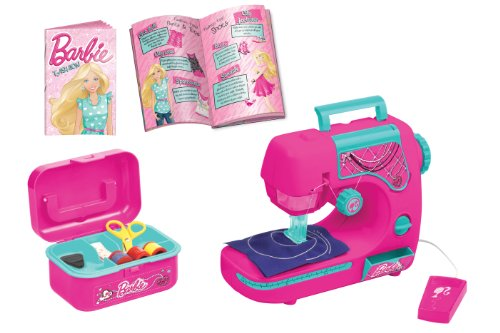 Lexibook - SW102BB - Jeu d'Imitation - Machine à Coudre Barbie avec son Guide de Styliste de Mode
