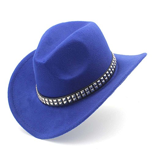 GJIN-Hats, Womens Fashion Western Cowboy-Hut mit Roll up Krempe Filz Cowgirl Sombrero Caps