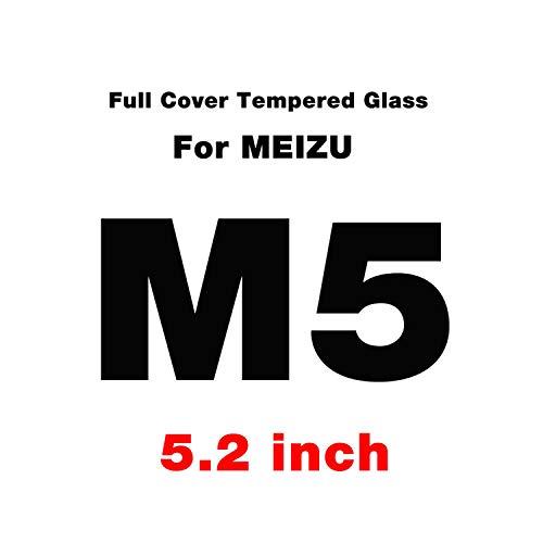 Vikimen Ausgeglichenes Glas-Film, Schirm-Schutz,Full Cover Tempered Glass for M3s M6s M5s M5C M3 M5 M6 Note Screen Protector MX6 Pro 6S U10 U20 Protective Film for Meizu M5 White