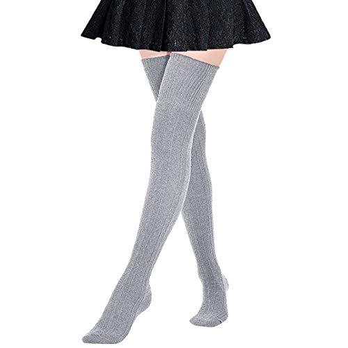 DRESHOW Calcetines hasta rodilla algodón mujer Un