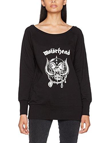 MERCHCODE Damen Motörhead Everything Louder Wideneck Crewneck Pullover, Black, XL Damen-black Metal