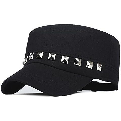 Cappello/Berretto a maglia/In primavera e in autunno nella versione coreana di berretto piatto/ Cap M/Tempo libero Sport Cap/ solidi rivetti berretto da