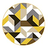 Teppiche Matten Teppichmaterial Teppich Kurzflorteppich Mode Geometrische Runde Wohnzimmer Schlafzimmer Rutschfeste Verschleißfesten Teppich Waschbar FENPING