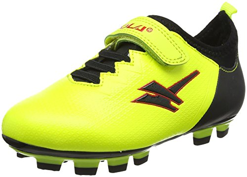 Gola Unisex-Kinder Alpha Blade,Velcro Fußballschuhe, Gelb (Volt/Black), 26 EU