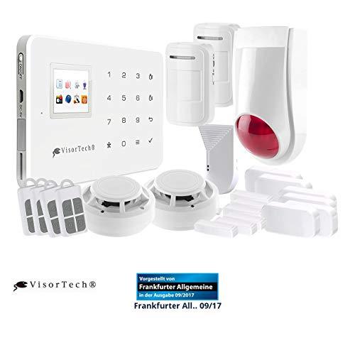 VisorTech Wireless Alarmanlage: Funk-Alarmanlage mit WLAN- & GSM-Anbindung, 17-teiliges Starter-Set (WLAN Alarm)