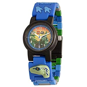 Orologio componibile da polso per bambini LEGO Jurassic World 8021285 con cinturino a maglie e minifigure Blue  LEGO