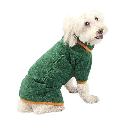 PETTOM Hundebademantel Mikrofaser Badetuch Hund Bademantel für Kleine Mittlere und Große Hunde (S,M,L,XL)