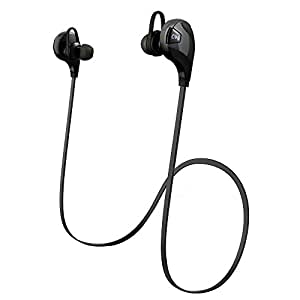 Patuoxun Bluetooth Cuffia V4.0, Senza Fili Bluetooth Sport Cuffie con Microfono [Palestra / funzionare / Sport / esercitazione / sweatproof],Bluetooth Wireless Earbuds per iPhone 6 / 6S, 6 Plus / 6s plus, 5 5c 5S 4s, iPad Air, Samsung Galaxy S6, S5, S4, S3 Nota 4 3, HTC M9 M8 M7, LG Flex 2 G3 G2, e altri Cellulari / Dispositivi- Nero
