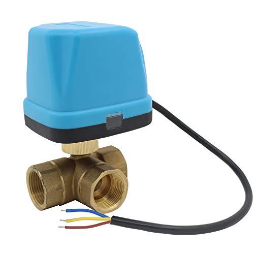 vanne 3 voies motorisée 220v electrovanne motorisée 220v vanne a bille 1/2 3/4 1 1-1/4 1-1/2 pouce (DN20 3/4 pouce)