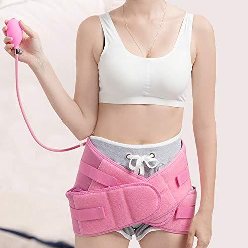 Ngls Schwangerschaftsstützgürtel, Aufblasbarer Rückenstützschutz - Atmungsaktives Bauchband Zur Linderung Von Rückenschmerzen,Rosa