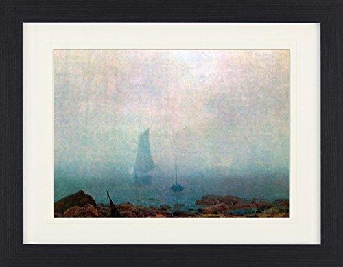1art1 113475 Caspar David Friedrich - Der Nebel, 1807, Detail Gerahmtes Poster Für Fans Und Sammler 40 x 30 cm