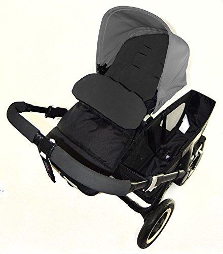 Fußsack/COSY TOES kompatibel mit Obaby Travel System Kinderwagen black jack