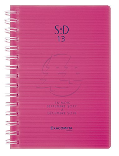 Exacompta Linicolor Sad 13 W Academic Diary Weekly Pocket Spiral 2018 September 2017 to December 13 x 9 cm Random Colour