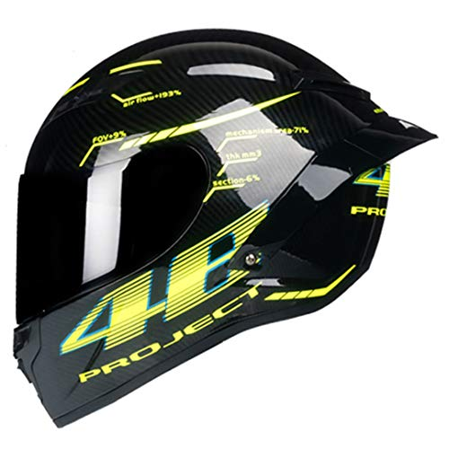 Y-Meanrnty Casco da Motociclista Integrale Casco da Moto Integrale Casco da Cross Motocross off Road Motorcyclist DOT Approved 1 M