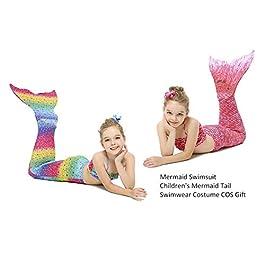 Belukies Costume da Bagno da Donna con Code a Sirena per Costume da Bagno Bikini Principessa