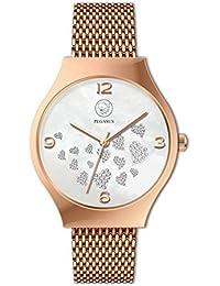 Joy Nesse Oro Rosa Corazones magnético Heart Reloj de pulsera Premium Pegasus Energy Watch Esprit Moon Light sin níquel allergiefrei Energetix 4you 3183en joyas Pouch