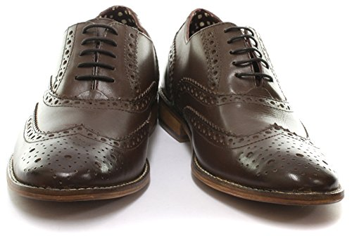 London Brogues richelieu Gatsby Cuir Homme Mocassin Brown Leather