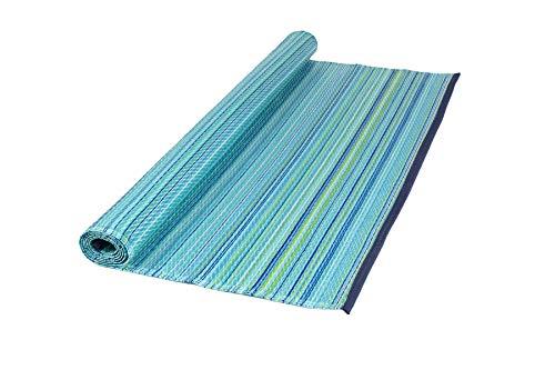 MaximaVida luxuriöser Outdoor Teppich Porto - Blau - 120 x 180 cm - hergestellt in Indien - Blauer Teppich Outdoor Teppiche