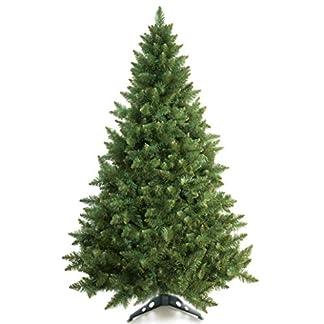 Prextex Árbol de Navidad Abeto Canadiense Artificial Ligero de 1,8 m/Fácil de Ensamblar con Bisagras y Soporte para Árbol de Navidad