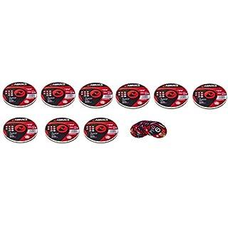 10 Packs of 10 Abracs Proflex PFET11510FI Extra Thin INOX Cutting Disc 115 x 1.0 x 22mm