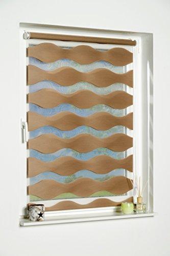 'K de Home Wohn-Guide Klemmfix Store Double Vague sans perçage – Taupe (L x l) 50 cm x 150 cm
