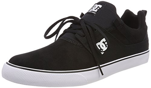 DC Shoes Herren Heathrow Vulc Skateboardschuhe, Schwarz (Black/White BKW), 42 EU Street Lo Skate Schuh