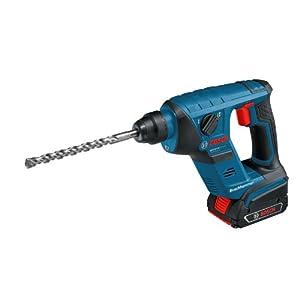 Bosch Professional GBH 18 V-LI Compact Akku-Bohrhammer mit 2 x 3,0 Ah Li-Ion, Schlagenergie 1 J, 1,9 kg, L-BOXX, 1 Stück…